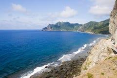 Ocean cliff. Mountains and cliffs overlooking the ocean Stock Photos