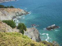 Ocean Cliff. Beautiful scenery at Marin Headlands in San Francisco Stock Image