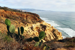Ocean and cliff view Royalty Free Stock Photography