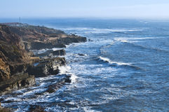Ocean Cliffs, California Royalty Free Stock Photo