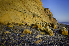 Ocean Cliffs, Sunset, Del Mar, California Stock Image