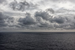 Ocean and Clouds Royalty Free Stock Photography