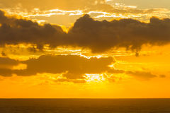 Ocean Clouds Sunrise Sunset Horizon Stock Images