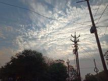 Ocean of clouds. stock photos