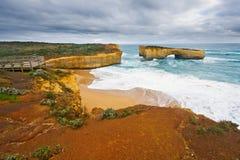 Ocean coast. Great Ocean Road, VIC, Australia Stock Images