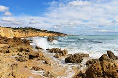 Ocean. Coast of Atlantic ocean.Portugal Royalty Free Stock Photo