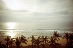 Ocean coast at Bali Stock Image