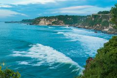 Ocean coast at Bali Stock Photo