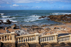 Ocean Coast Balustrade Stock Photography