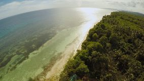 The ocean coast with beautiful coral reefs and views. Aerial view. The ocean coast with beautiful coral reefs and views. Aerial view stock video