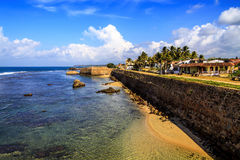Ocean coast of Fort Gale at Sri Lanka. Horizontal orientation Stock Image