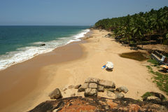 Ocean coast, Kerala, South India Royalty Free Stock Images