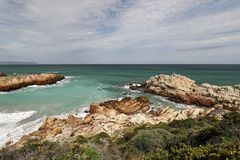 Ocean and coast landscape in Hermanus, South Africa Stock Photography