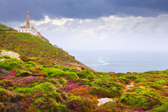 Ocean coast with lighthouse Royalty Free Stock Image