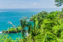 Ocean coast in National Park Manuel Antonio, Costa Ri stock photography