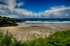 Spanish destination, Galicia, north-west region, Caion beaches Stock Images