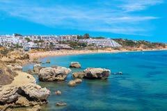 Oura beach. Albufeira, Portugal Royalty Free Stock Photo