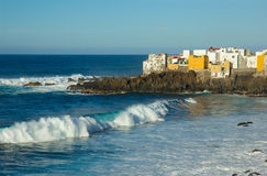 Ocean coast in Puerto de la Cruz, Tenerife, Spain Stock Photo