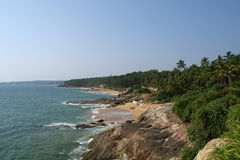 Ocean coast, South India Stock Images