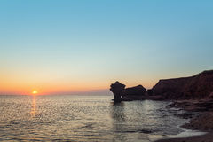 Ocean coast at the sunrise Stock Photo