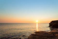 Ocean coast at the sunrise Stock Image
