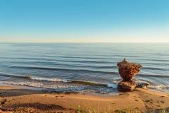 Ocean coast at the sunrise. Central Coastal Drive, Prince Edward Island, Canada Stock Photo