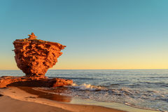 Ocean coast at the sunrise. (Thunder Cove, Prince Edward Island, Canada Stock Photo