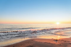 Ocean coast at the sunrise Stock Image