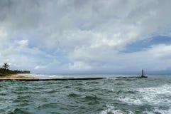 Ocean coast, waves, sky royalty free stock photos