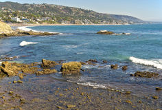 Ocean and Coastline, Laguna Beach California Royalty Free Stock Image