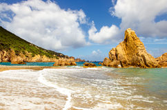Ocean coastline scenic panoramic view in Costa Paradiso, Sardini Royalty Free Stock Images