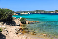 Ocean color in Caprera Island. View of the sea on the island Sardinia Stock Image
