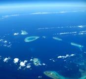 Ocean and coralline island Stock Image
