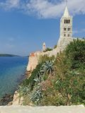 Ocean from Coratia,nice church royalty free stock photo