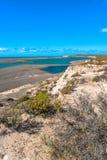 Ocean cost landscape of Peninsula Valdes, Patagonia, Argentina Stock Image