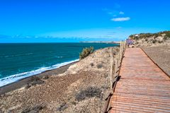 Ocean cost landscape of Peninsula Valdes, Patagonia, Argentina Stock Photography