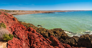 Ocean cost landscape of Punta Tombo, Patagonia, Argentina Stock Image