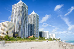 Ocean cost north Miami beach Royalty Free Stock Photography