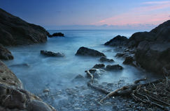Ocean cove. In th evening stock image