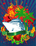 Ocean Cruise Liner Splash And Banner Stock Images