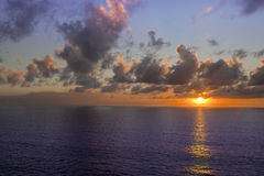 Ocean Cruise Sunset Royalty Free Stock Photography