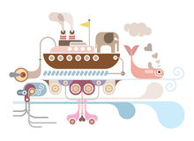 Ocean Cruise - vector illustration Royalty Free Stock Photography