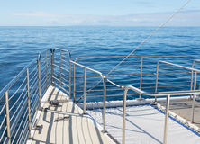 Ocean cruise yacht catarmaran railings Royalty Free Stock Image