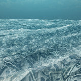 An ocean of currency. An ocean of US currency Royalty Free Stock Images