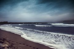 Ocean with dramatic sky Royalty Free Stock Images