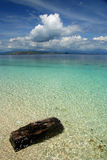 Ocean Of Dreams. Crystal clear sea near Flores in Indonesia royalty free stock image