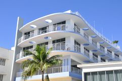 Ocean drive buildings Stock Images