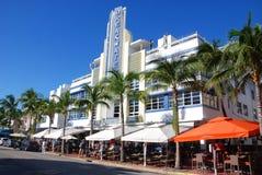 Ocean drive buildings Stock Photo
