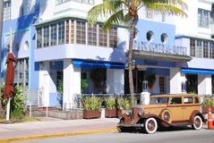 Ocean drive buildings Royalty Free Stock Photo