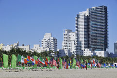 Ocean drive buildings Royalty Free Stock Photography